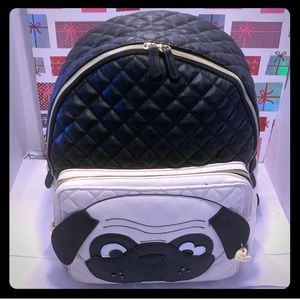 Like New Betsy Johnson PUG Quilted Backpack